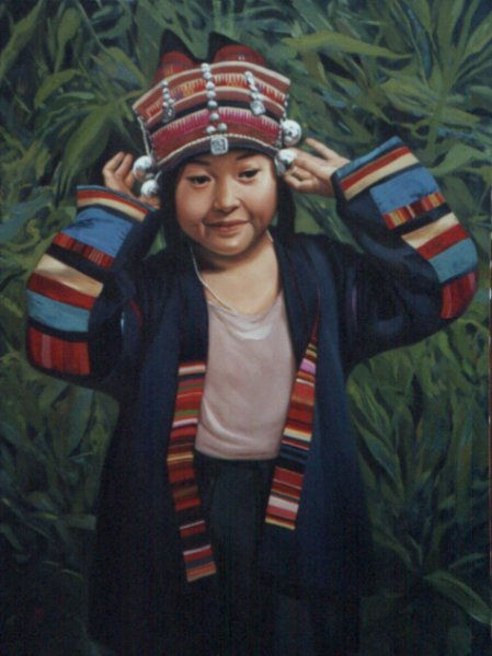"Paul Binnie ""Akha Girl Adjusting her Cap"" main image"
