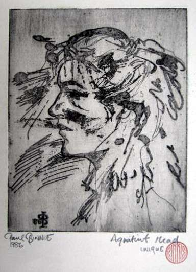 "Paul Binnie ""Aquatint Head"" 1986 thumbnail"