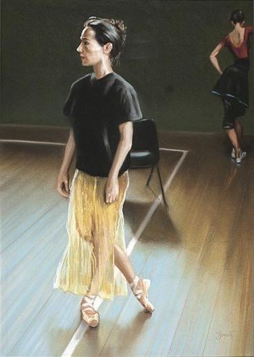 "Paul Binnie ""Ballet Dancer Rehearsing"" 2002 main image"