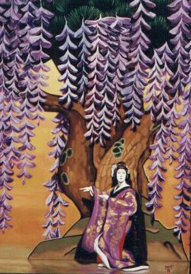 "Paul Binnie ""Bandō Tamasaburō as the Wisteria Maiden"" main image"