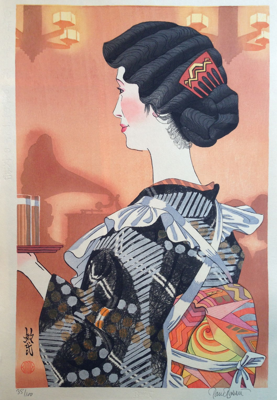"Paul Binnie ""A Café Waitress of 1930"" artwork"