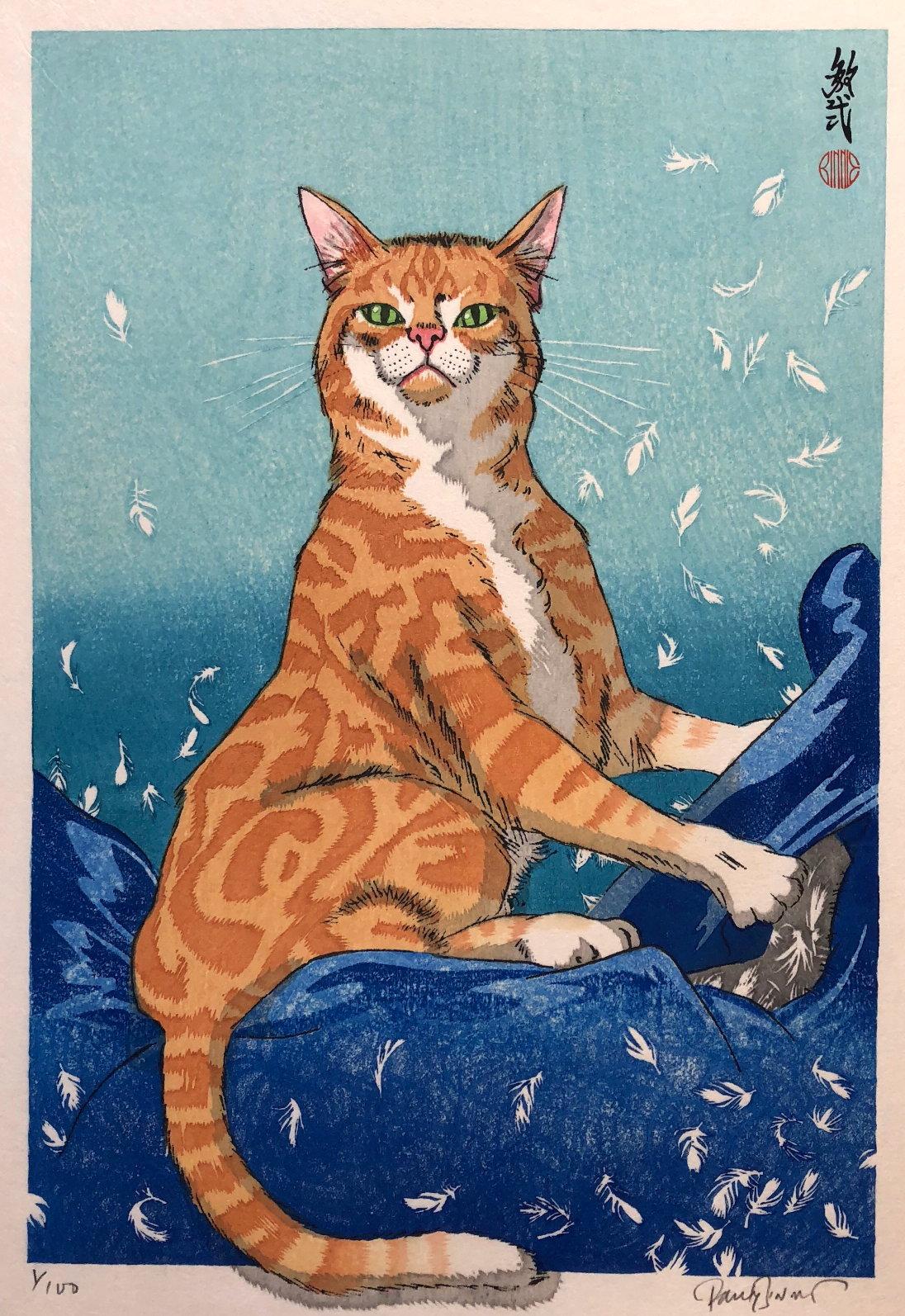 "Paul Binnie ""Cat Feathers Blue"" main image"