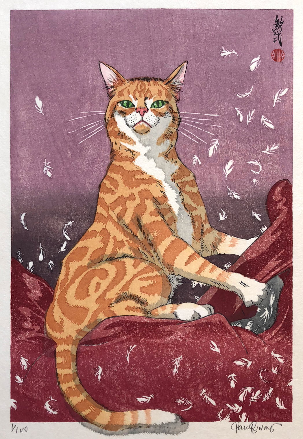 "Paul Binnie ""Cat Feathers Red"" main image"