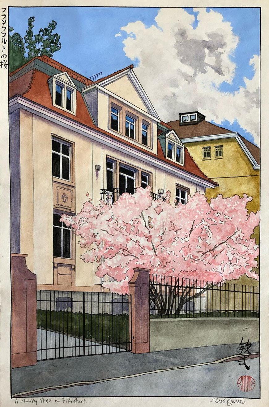 "Paul Binnie ""A Cherry Tree in Frankfurt"" main image"