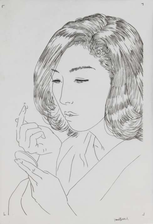 "Paul Binnie ""Contact Lens of 1970"" Sumi ink sketch thumbnail"