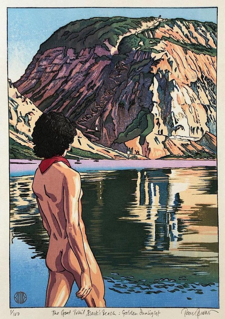 "Paul Binnie ""The Goat Trail, Black's Beach: Golden Sunlight"" main image"
