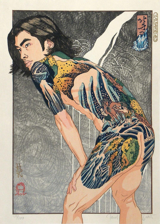 "Paul Binnie ""Hokusai's Waterfalls"" artwork"