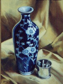 "Paul Binnie ""Kangxi Vase and Silver Beaker""  main image"