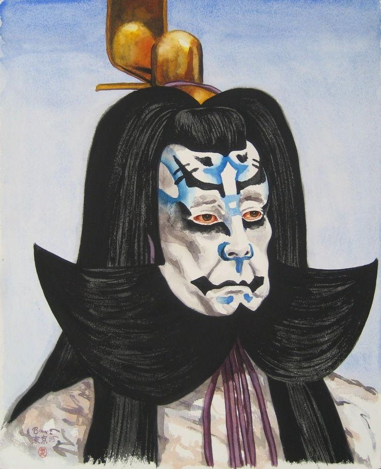 """Paul Binnie """"Kataoka Nizaemon as Fujiwara-no-Shihei"""" main image"""