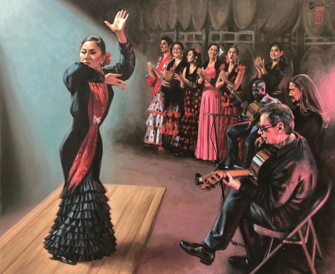 "Paul Binnie ""Las Flamenquitas"" artwork"