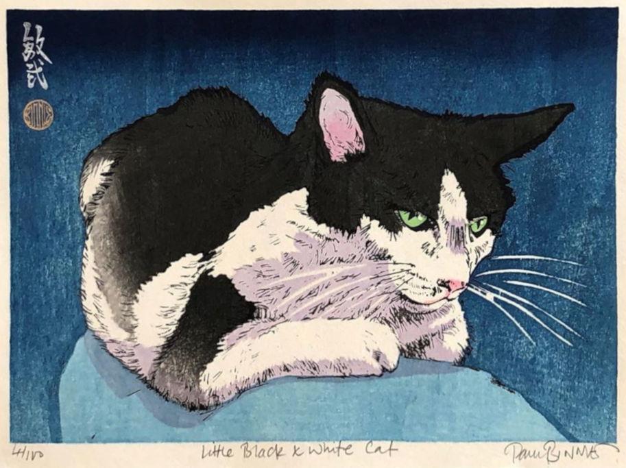 "Paul Binnie ""Little Black & White Cat"" main image"