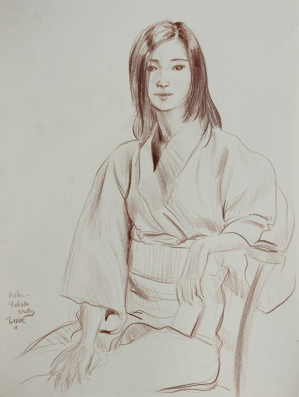 """Paul Binnie """"Mika - Yukata Study"""" 2008 main image"""
