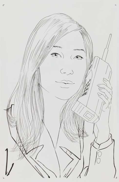 "Paul Binnie ""A Mobile/Cell Phone of 1980"" Ink Sketch thumbnail"