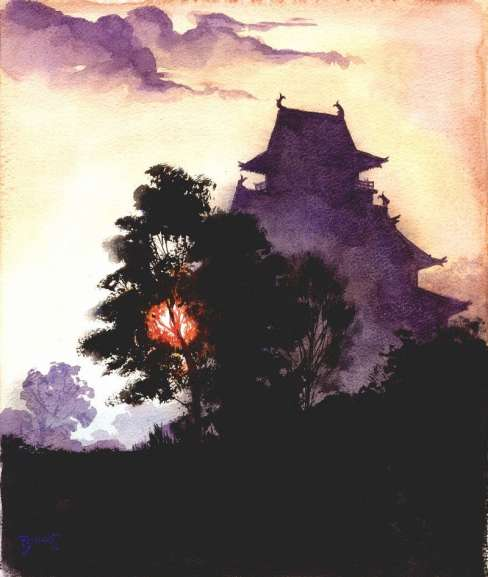 "Paul Binnie ""Osaka Castle at Sundown"" 2003 thumbnail"