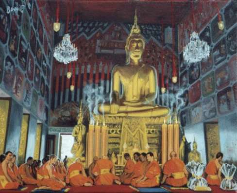 "Paul Binnie ""Painted Hall of Buddha, Bangkok"" 2001 thumbnail"
