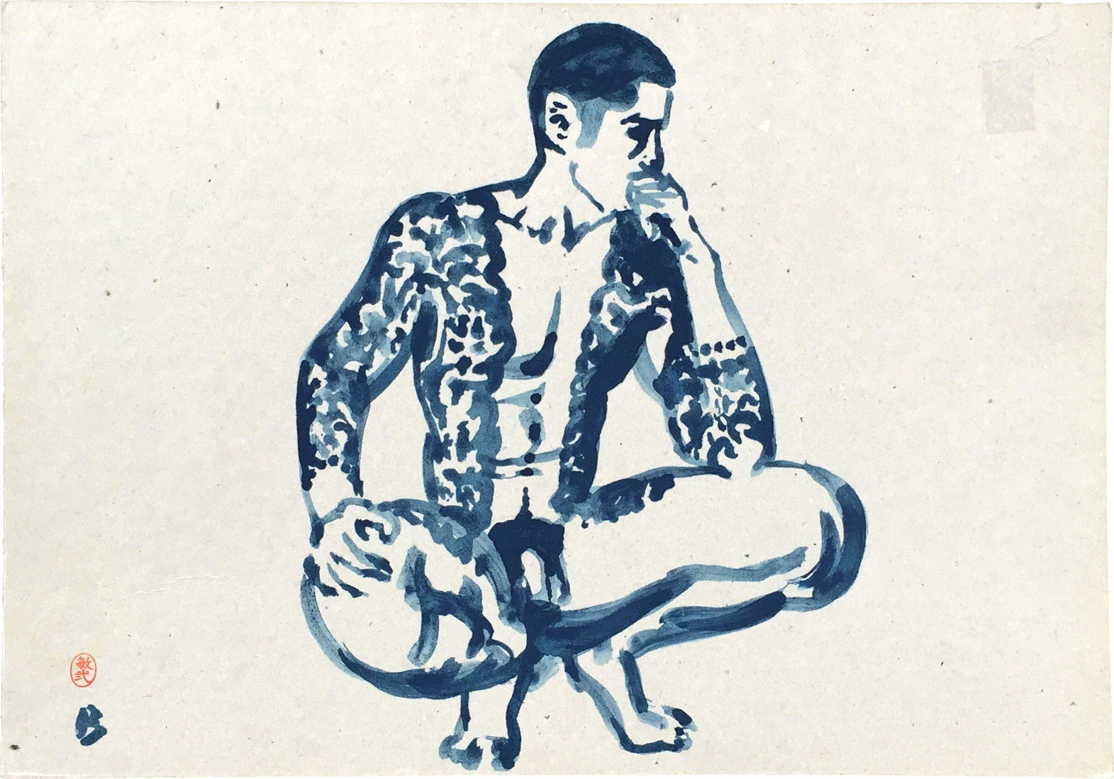 "Paul Binnie ""Pensive Yakuza"" 1995 main image"