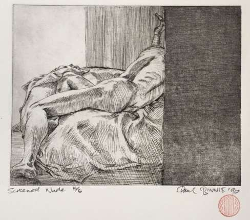 "Paul Binnie ""Screened Nude II"" 1990 thumbnail"