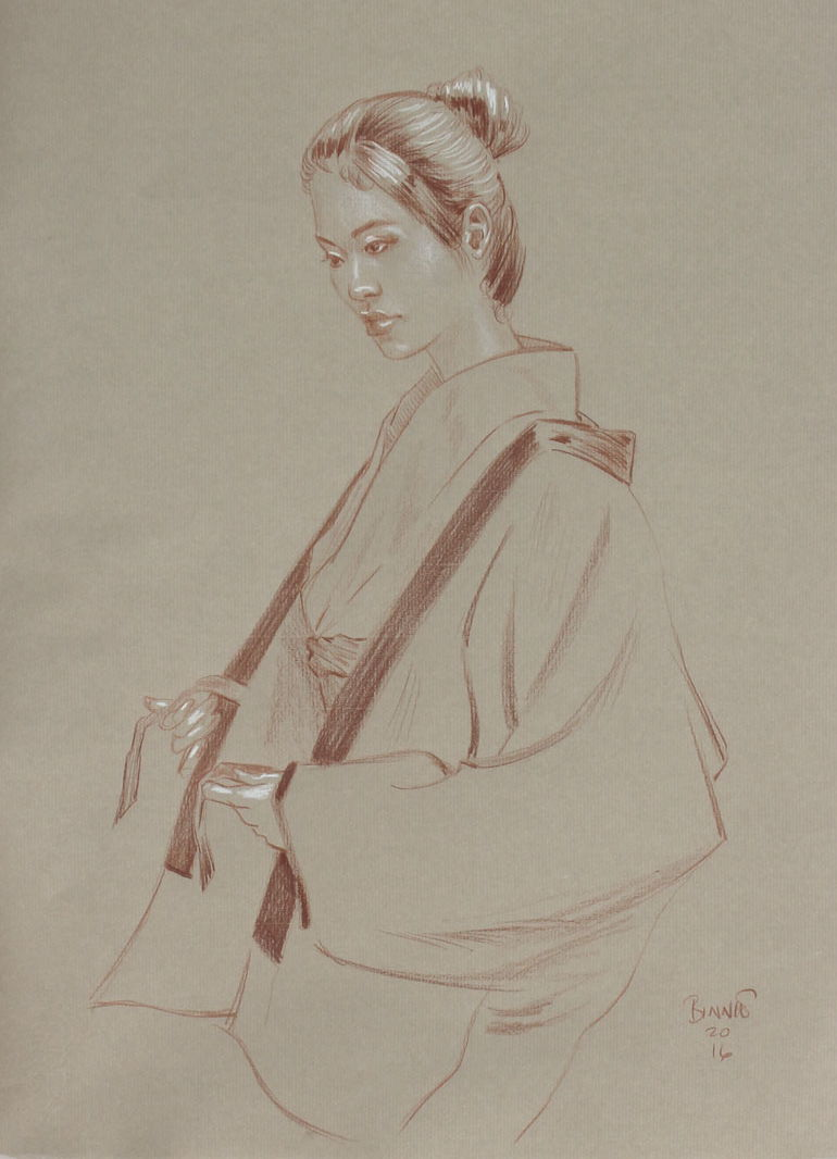 "Paul Binnie ""Study for Feathered Robe"" main image"