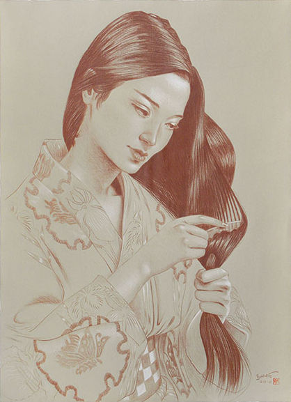"Paul Binnie ""Study for Hair Combing"" 2010 main image"