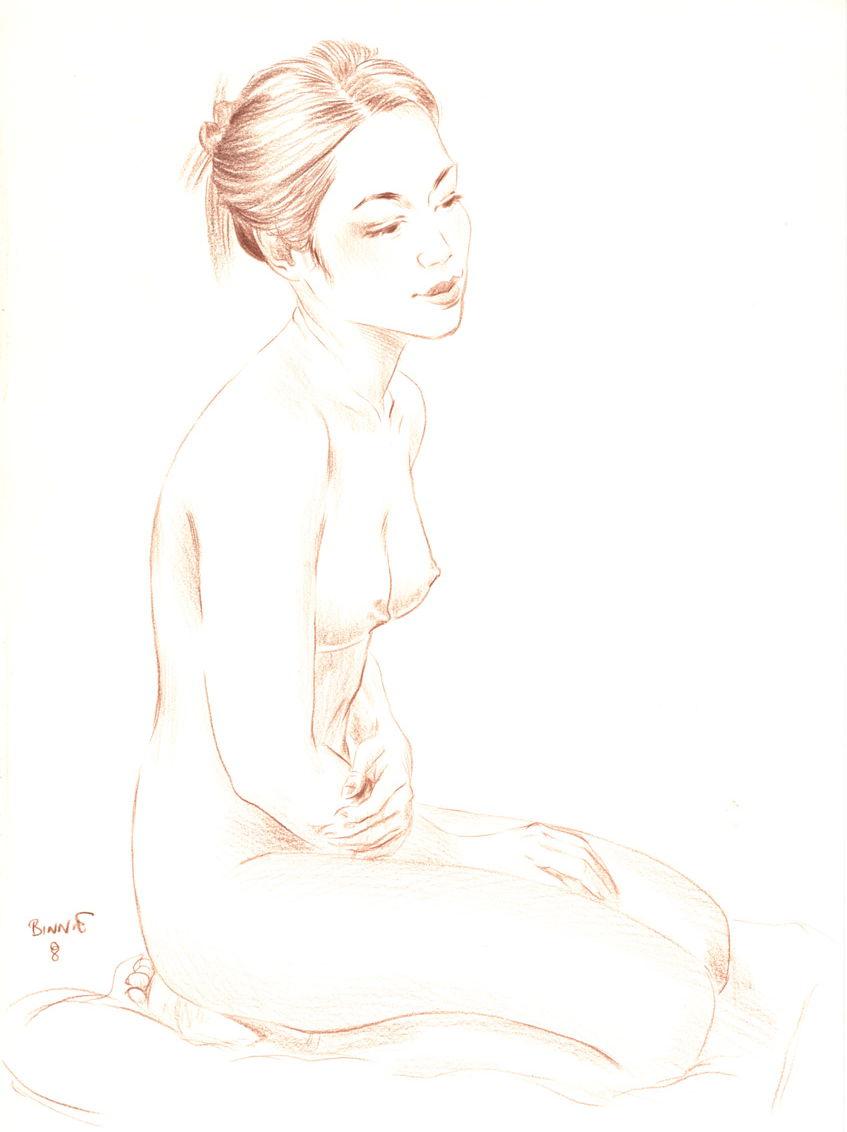 "Paul Binnie ""Study for Kiyonaga's Pipe"" 2008 main image"