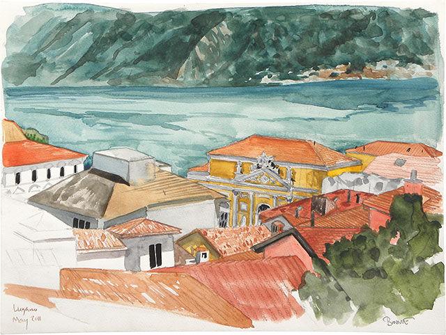 "Paul Binnie ""Study for Lugano"" main image"