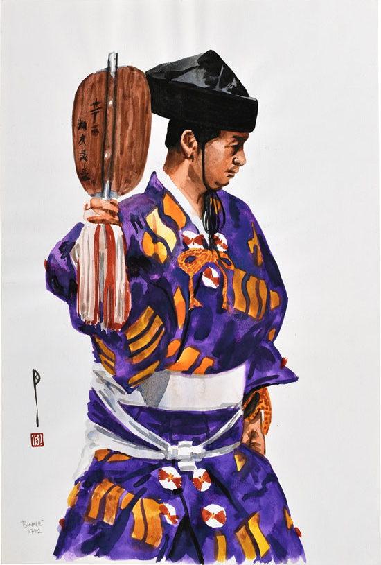 "Paul Binnie ""Sumo Umpire I"" artwork"