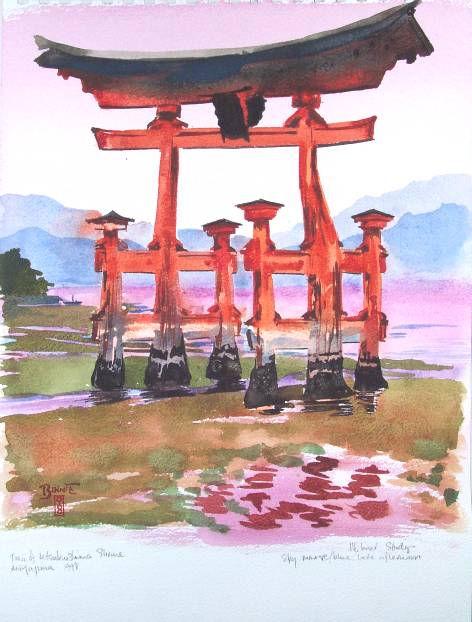 "Paul Binnie ""The Torii Gate at Miyajima"" main image"