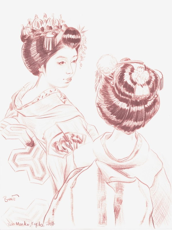 "Paul Binnie ""Two Maiko, Kyoto"" main image"