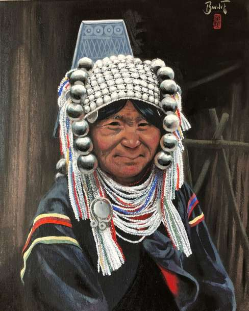 "Paul Binnie ""A Woman of the Akha Tribe, Myanmar"" 2001 thumbnail"